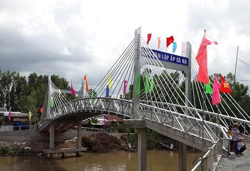 Khánh thành cầu Dân Lập - ấp Cà Na ở Tri Tôn, An Giang