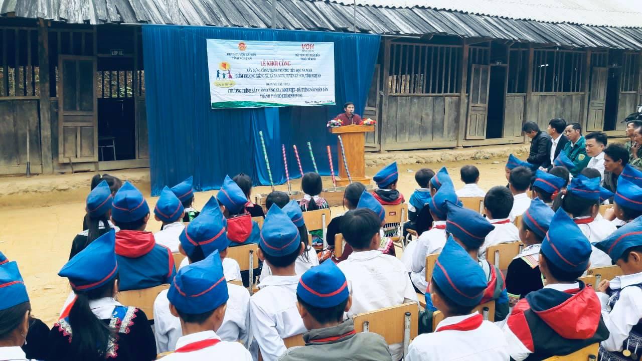 Lễ Khởi Công Xây Trường Tại huyện Kỳ Sơn - Nghệ An