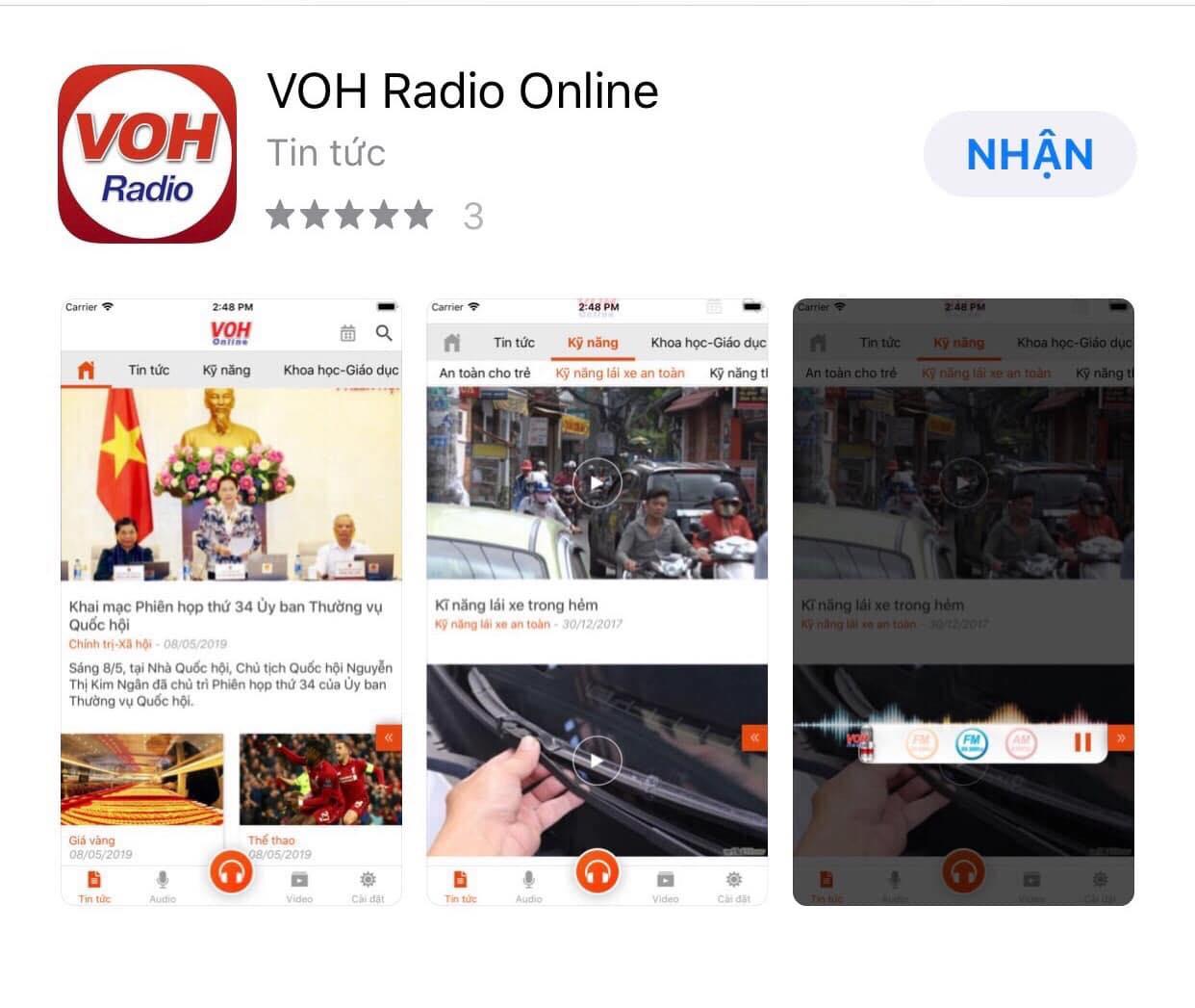 VOH RADIO ONLINE- Chiếc RADIO trong tay bạn, mọi lúc, mọi nơi...